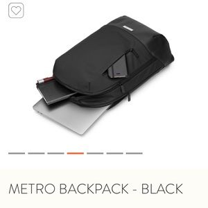 NWOT Moleskine Metro Backpack in Black